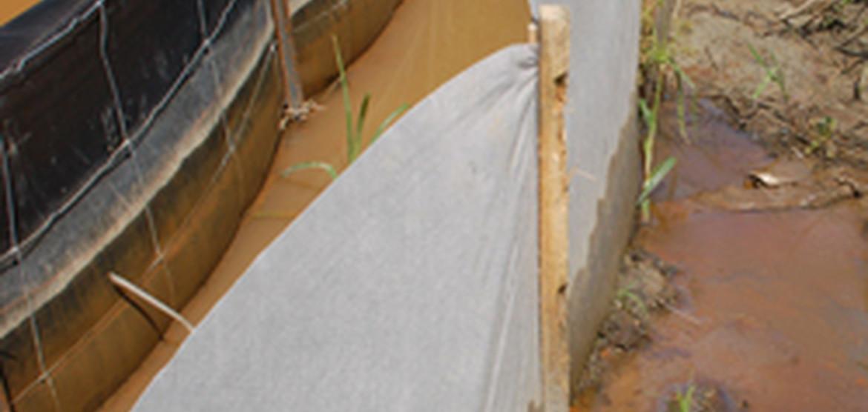Belted Silt Retention Fence Erosion Control